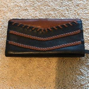 Fossil Bi Fold brown and black wallet